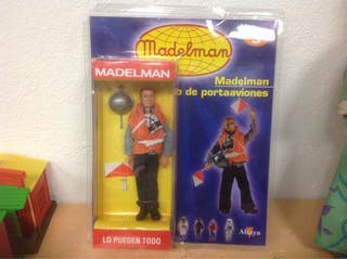 FIGURA PORTAAVIONES MADELMAN PORTA AVIONES MARINA MARINERO MADELMAN