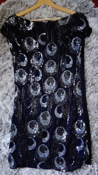Vestido Nochevieja,lentejuelas y licra T.S