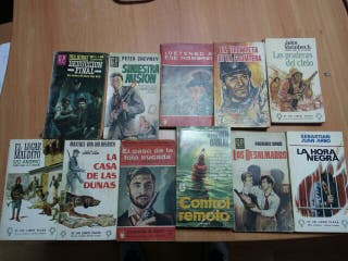 11 Novelas accion espias policiaca años 60