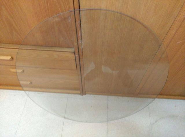 Cristal de mesa redonda
