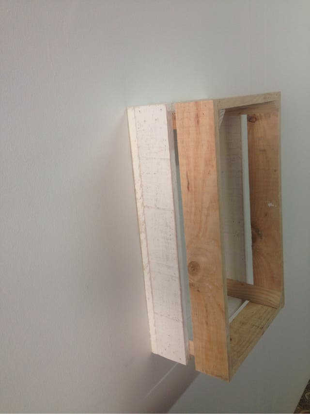 Caja de madera de frutas palet