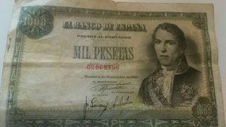 Billete antiguo de 1000 pesetas. coleccionista