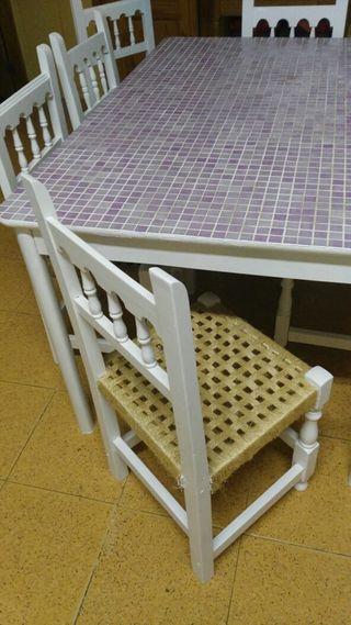 mesa grande restaurada