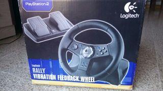 Volante+Pedales Logitech Playstation 2