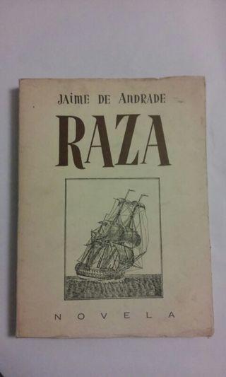 coleccionismo.Raza. novela Jaime de Andrade