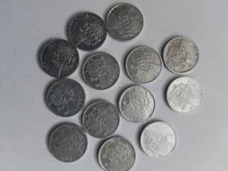 serie de monedas todos los años