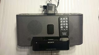 Radio reloj despertador de Sony sueño con soporte