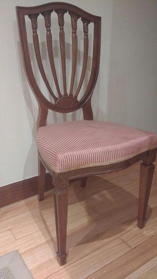 Sillas comedor - 8 sillas de madera a mano