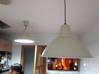 3 lamparas de techo.