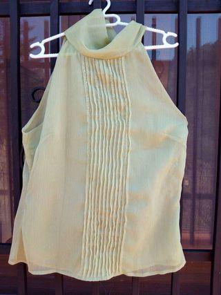 Blusa vintage 43 a 44 verde claro