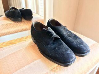 Zapatos de ante negros