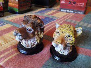 Figuras bustos leon leopardo