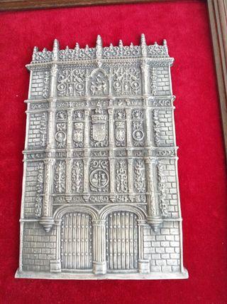 Cuadro plata fachada Salamanca