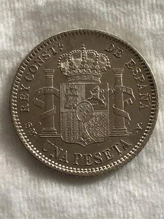1 peseta 1904 cero partido