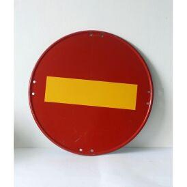 Señal de tráfico original, de metal. Mide 48 cm d.