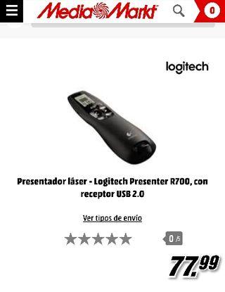 Presentador diapositivas logitec r700