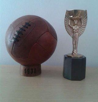 Balón fútbol 1930 Mundial de Uruguay. Pre Adidas