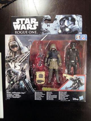 star wars dos figuras Rogue One de Hasbro.