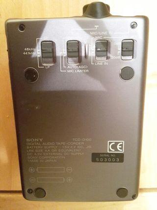 Walkman DAT Sony TCD-D100