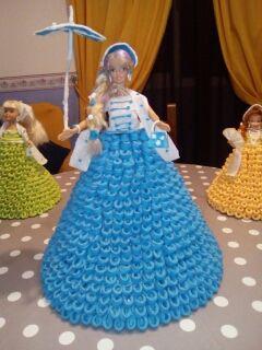 muñecas de servilletas