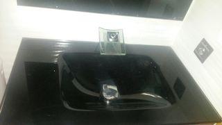 Lavabo cristal negro nuevo