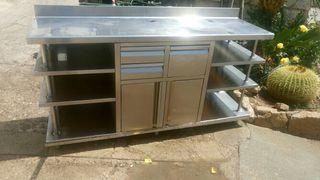 mueble cafetera inox