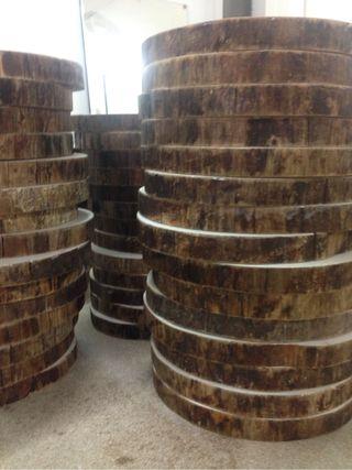 Rodajas, lonchas de madera