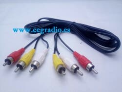 2m Cable 3 RCA Audio Video
