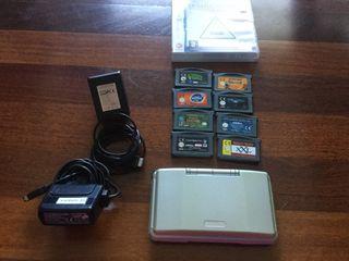 Nintendo DS + Cargadores + Juegos
