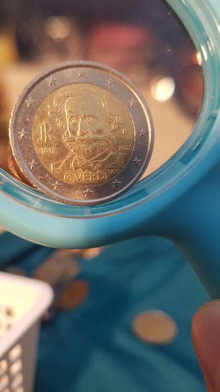 Moneda de Italia 2 euros Italia 2013. Verdi