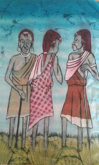 Pintura africana Himba