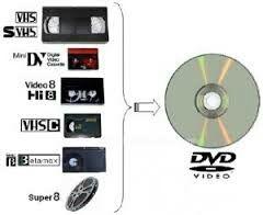 Cintas VHS y 8mm a DVD