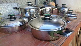 Bateria de cocina ollas de segunda mano por 500 en valencia en wallapop - Amc baterias de cocina ...