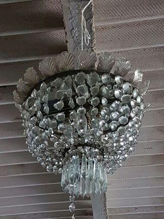 Lámpara o plafón de cristal
