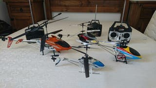 lote de helicópteros teledirigidos
