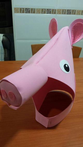 máscara de cerdo -peppa pig