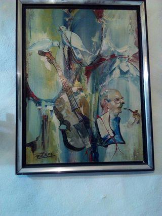 oleo sobre lienzo Raul Sango