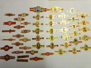 Colección 50 vitola sellos de puro antiguos