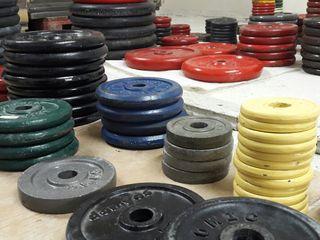 Discos pesas gimnasio