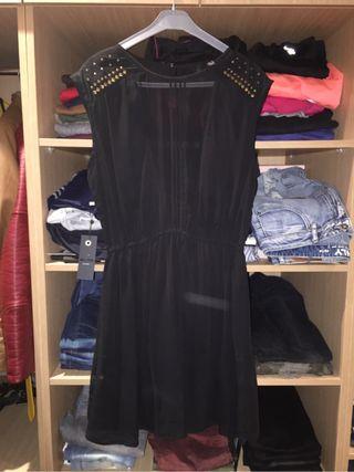 Vestido mango negro