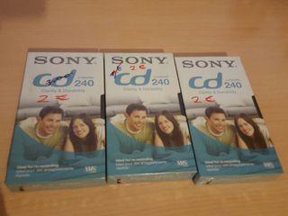 Cintas VHS 240 minutos