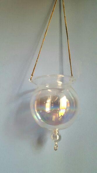 Farolillo Cristal Irisado Colgante