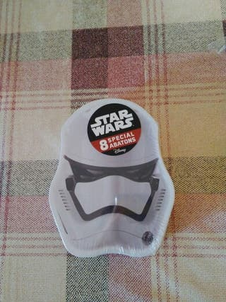 caja de 8 abatons especiales de star wars