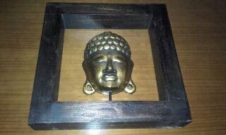 cuadro buda madera y metal