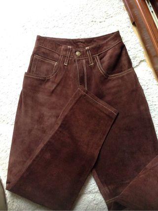 Pantalones de ante talla 38