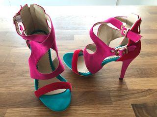 Zapatos Sandalias Mano Segunda Sin T 37 Colores Estrenar De Tacón JFcTK1l