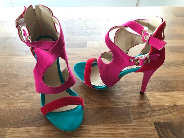 Boutique en ligne 1f5d6 69f96 Zapatos sandalias tacón colores T.37 SIN ESTRENAR de segunda ...