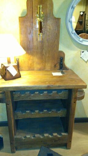 Mueble cata de bodega rustico en roble antiguo