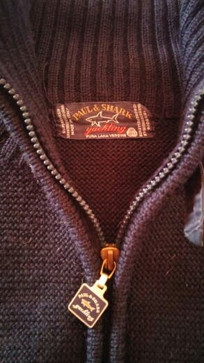 chaqueta de lana talla L