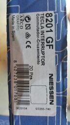 tapa interruptor niessen Nie 8201GF grafito